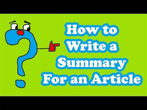 How to write summary of research report